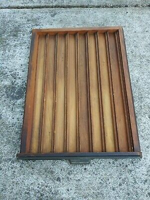 Vintage Wooden Printers Tray Shadow Box Machinist