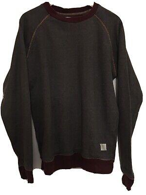 Mens Bellfield Sweatshirt burgundy/brown vintage/retro style jumper/top M medium