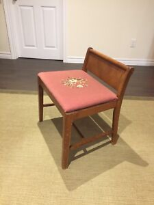 Vintage needlepoint side chair