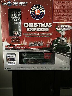 LIONEL CHRISTMAS EXPRESS BLUETOOTH REMOTE CONTROL TRAIN SET O GAUGE 6-82982