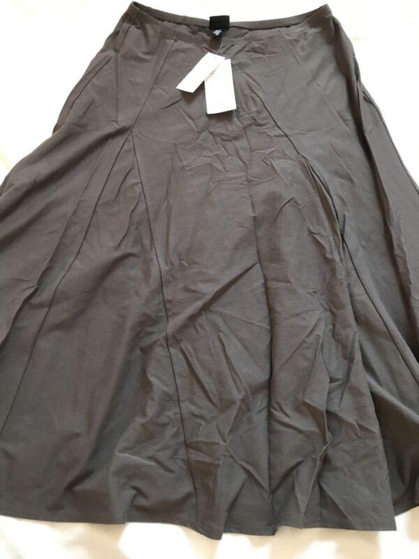 Eileen Fisher Stretch Elastic Waist  A Line Asym Godet Skirt Nwt $168 Xs