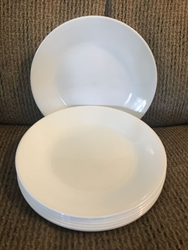 "Eight (8) Corelle Winter Frost White 6 3/4"" Salad/Dessert Plates"