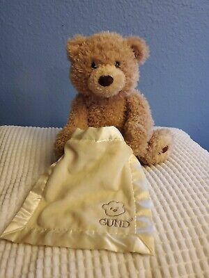 "Animated Peek-A-Boo Talking Teddy Bear Plush Toy 11.5"" Baby Gund Collection"