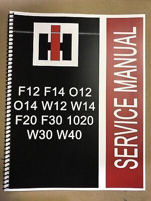 F20 International Farmall Tractor Technical Service Shop Repair Manual F 20