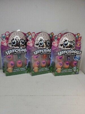Hatchimals CollEGGtibles Season 4 Hatch Bright 4 Pack + Bonus Lot of 3 NIB