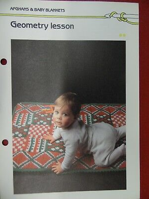 (Geometry Lesson Baby Play Mat crochet PATTERN INSTRUCTIONS FREE SHIPPING)