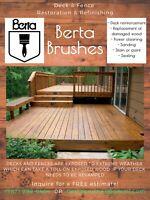 Berta Brushes Deck & Fence refinishing