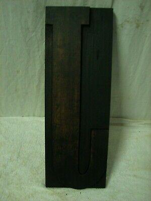 Vintage Huge 15 Wood Letterpress Block Print Type Letter J
