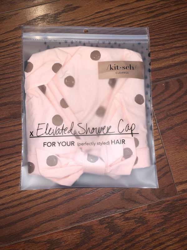 Kitsch Luxury Shower Bath Cap - Waterproof - Reusable Hair Cap - Blush Dot New