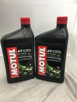 MOTUL 5100 10w40 MOTORCYCLE OIL 1 QUART  BOTTLE ESTER Synthetic blend  2PACK