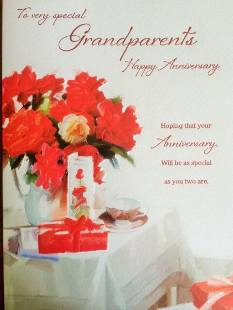 To very special grandparents happy wedding anniversary greeting card anniversary card for very special grandparents m4hsunfo Choice Image