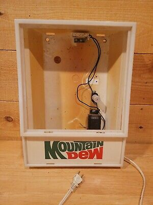 Vintage 1980 Mountain Dew Hanging Clock Frame Clock Is Missing Parts Only
