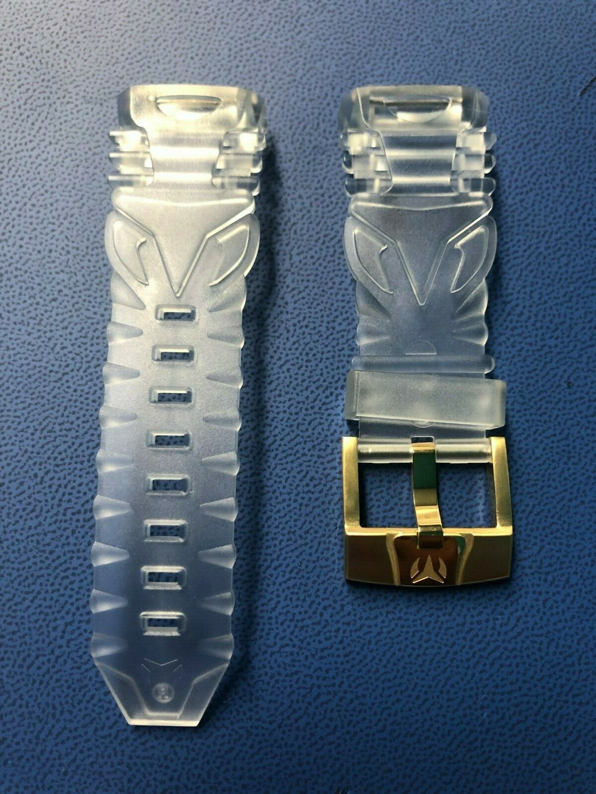 TechnoMarine Retro Clear Strap 45mm with Gold Buckle ORIGINA