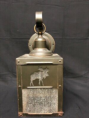 Moose wall mount light fixture for lodge or cabin