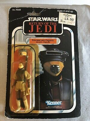 Vintage Star Wars 1983 ROTJ Princess Leia Boushh Disguise MOC