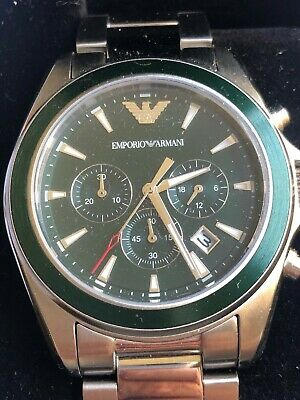 Emporio Armani Green Dial Chronograph Men's Watch