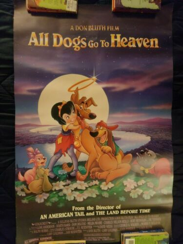 ALL DOGS GO TO HEAVEN Original DS Movie Poster 27x40