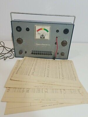 Vtg.commercial Trades Institute Model Tc-10 Tube Checker W Data Sheets Untested