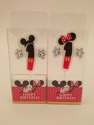 *Mickey Minnie Mouse Theme Birthday Number Numeric Candles 1st 2nd 3rd 4th etc* (1st Birthday Minnie Mouse Theme)