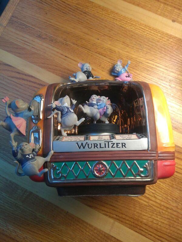 JUKEBOX Jamboree MINI COLLECTIBLE REPLICA WURLITZER Porcelain music box mice