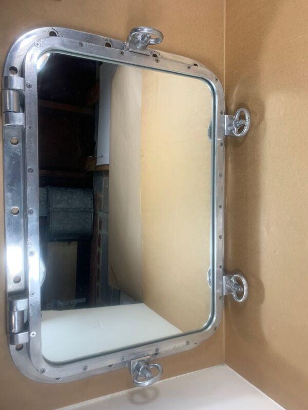 "Ship Salvage Marine Rectangle Porthole  Mirror Nautical  28"" - See Description"