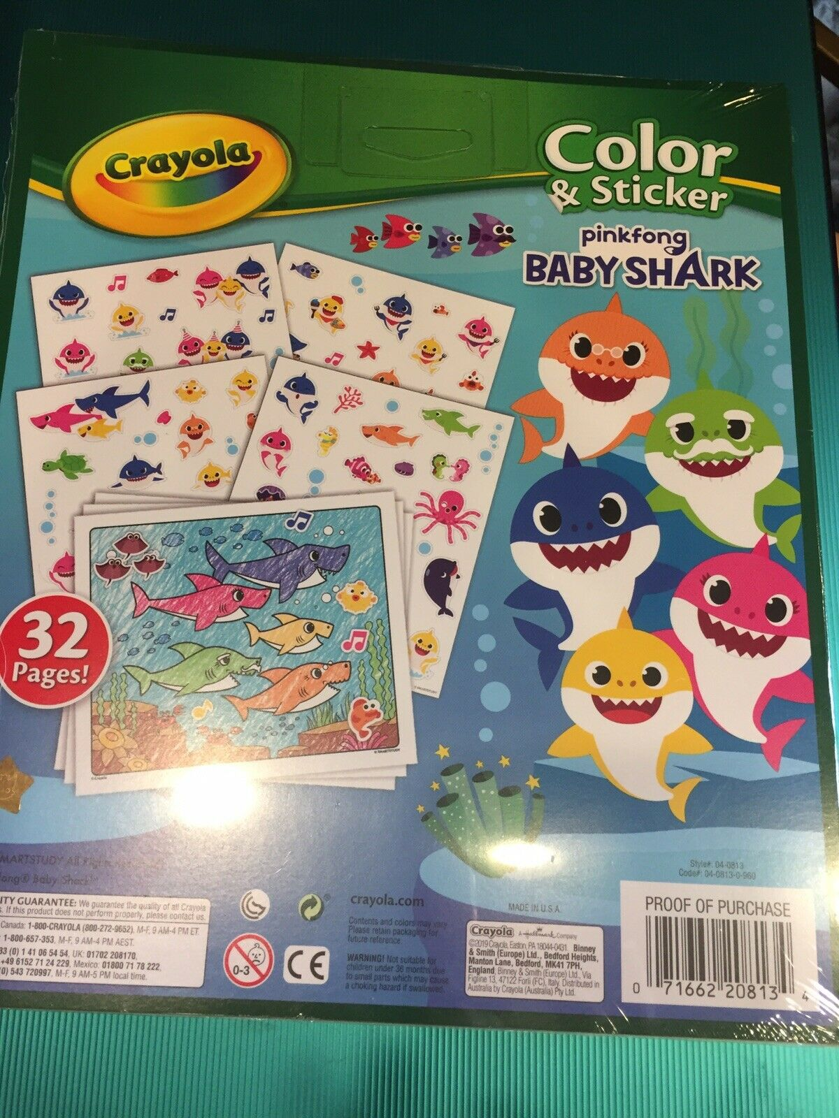Crayola Baby Shark, Gift For Kids, Ages 3+ Color & Stickers