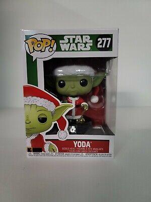 Funko Pop! Star Wars - Santa Yoda [Christmas Holidays] #277 (RARE Eyes wide open