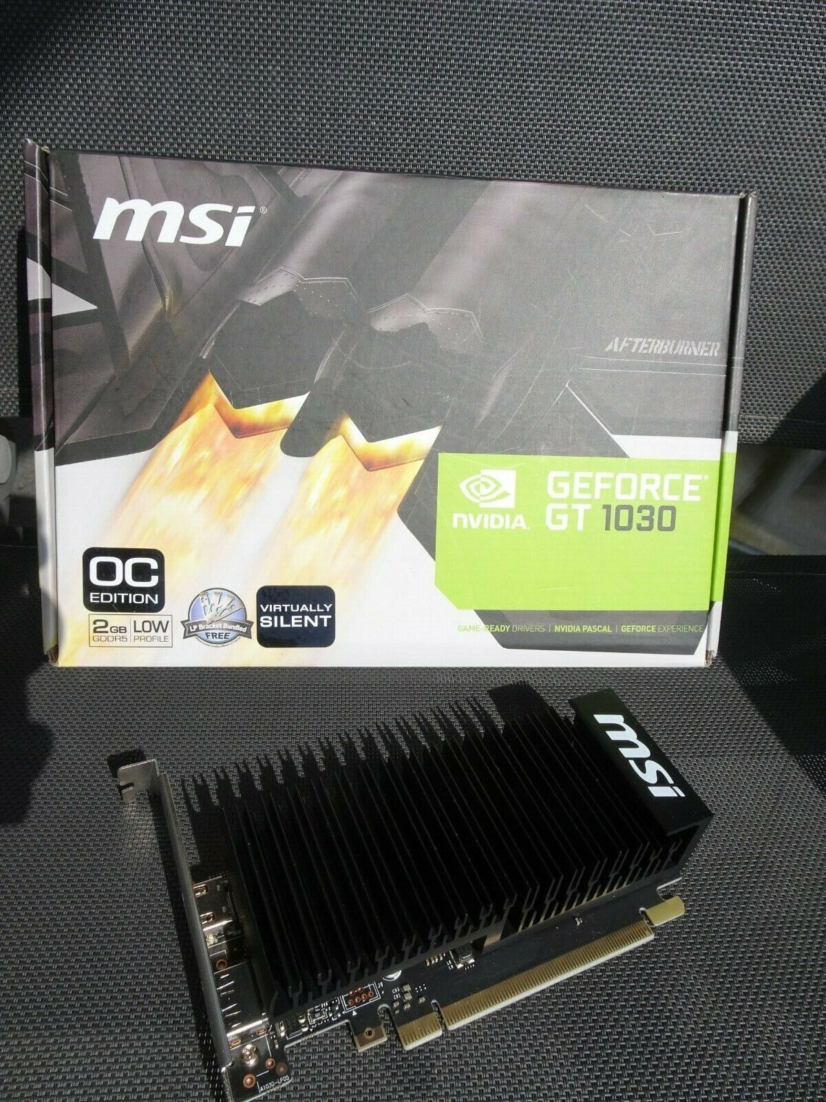 MSI NVIDIA GeForce GT 1030 Low Profile OC 2GB GDDR5 Grafikkarte