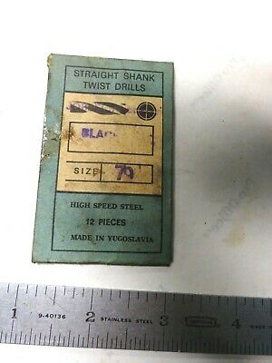 12- 79 .0145 Straight Shank Treated Drills