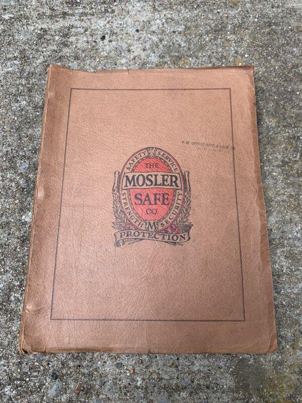 Vintage 1937 Mosler Safe Company Catalog Vaults Locks Keys Rare