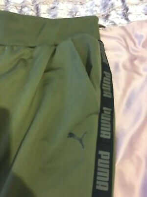 Womens Puma Khaki Slim Joggers Size XS