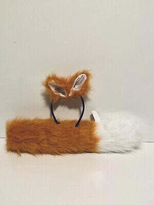 Fox Woman Halloween Costume (2 PC Furry Fox Halloween Cosplay Costume Accessory Kit For Adult OS)