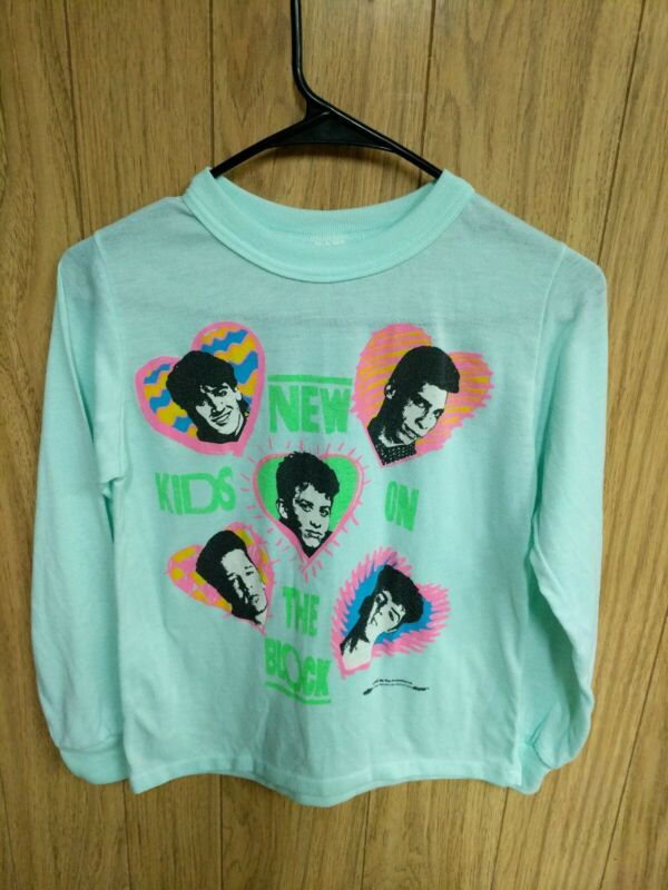 Vintage New Kids On The Block T Shirt 1990 Girls Size 14