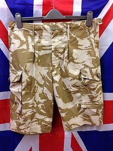 Genuine-British-Army-Surplus-Desert-Combat-Shorts-DDP-Camo-Grade-A-Condition