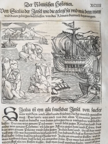 Livius History of Rome Sicily Post Incunable Woodcut Schoeffer (94) - 1530