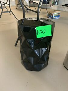 Black ceramic stool