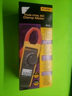 Fluke 373 True-rms Current Clamp Meter 600a Ac 600v Acdc New In Box.
