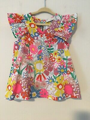 Stella McCartney Kids Girl's Flutter Sleeve Floral Top 5 Years