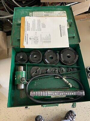 Greenlee 7310sb Hydraulic Knockout Punch Set 12- 4