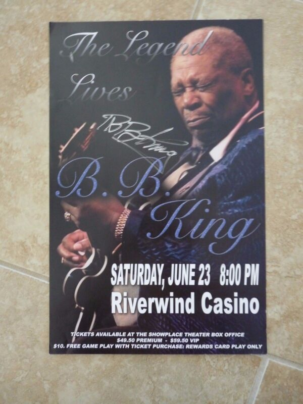BB King Of The Blues Signed Autographed 11x17 Concert Poster PSA Guaranteed #3G1