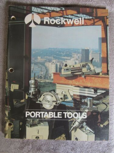Vintage 1974 Rockwell Portable Tools Catalog AD-2570 2/74 7Y(17)