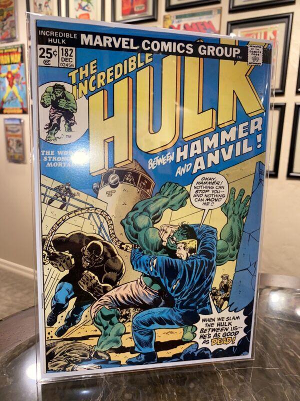 Incredible Hulk #182 VERY HIGH GRADE 9.0 Range comic Wolverine cameo with MVS 🔥