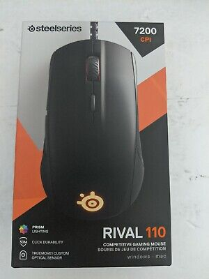 SteelSeries Rival 110 Gaming Mouse 7200 CPi 240 ips, 30g optical sensor NEW