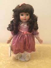 "Porcelain Copperart Heirloom ""Lena"" Doll Woodside Adelaide Hills Preview"