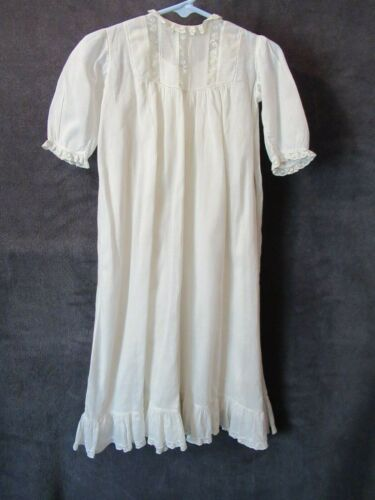 Vintage Antique Off White Cotton Lace Embroidery 2 Piece Baby Christening Gown