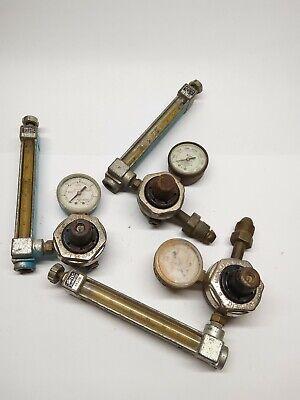 Lot Of 3 Vintage Steampunk Smith Regulators With Flow Metersused