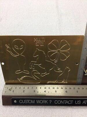 Multi Image 1 Master Template Brass Engraving Plate For New Hermes Font Tray