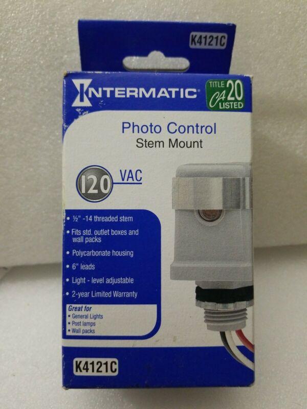 Intermatic K4121C 120-Volt  15 amp Stem Mount Photo Control Unopened