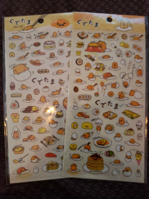 🥚🥓 1 Gudetama Sanrio Lazy Egg Stickers 🌎 US SELLER!! FAST SHIPPING!!! 🥚🥓