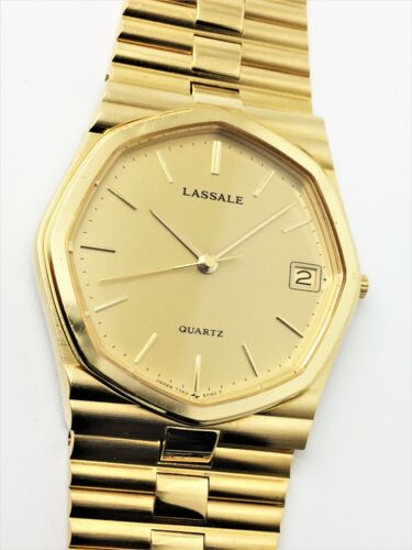 LASSALE (by Seiko) 7752-5019 MENS 22KT PLATED NOT-WORKING QUARTZ WATCH CMYY34
